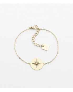 Bracelet Zag Aztèque acier...