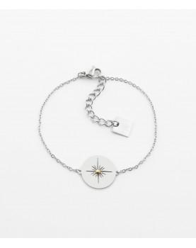 Bracelet Zag Aztèque acier