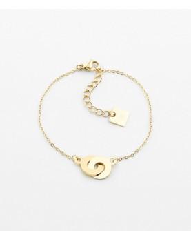 Bracelet Zag Bow acier doré