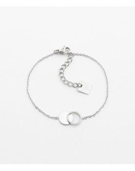 Bracelet Zag Cantor acier
