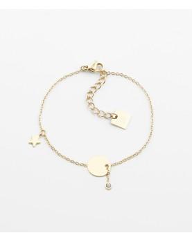 Bracelet Zag Charm acier doré