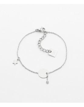 Bracelet Zag Charm acier