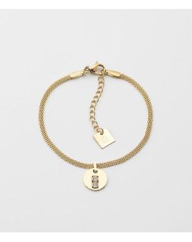 Bracelet Zag Artus acier doré