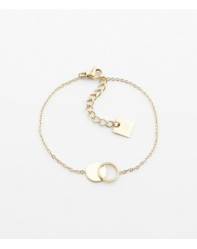 Bracelet Zag Cantor acier doré