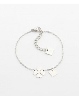Bracelet Zag Clover acier