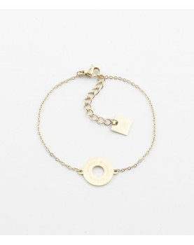 Bracelet Zag Divine acier doré