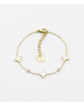 Bracelet Zag Duomo acier doré