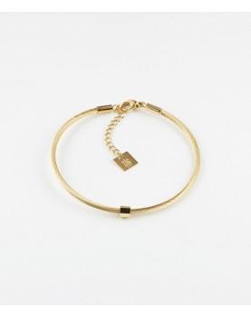 Bracelet Zag Ming acier doré
