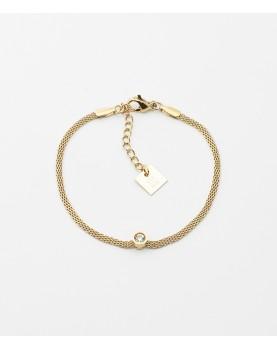 Bracelet Zag Odin acier doré