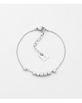 Bracelet Zag Pythagore acier