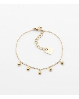 Bracelet Zag R2D2 acier doré