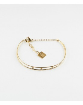 Bracelet Zag Tadao acier doré