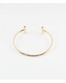 Bracelet Zag Starck acier doré