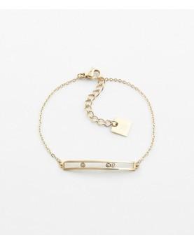 Bracelet Zag Trinity acier...