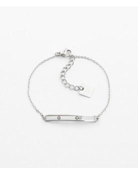 Bracelet Zag Trinity acier