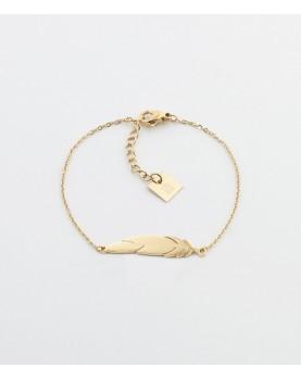 Bracelet Zag Feather acier...