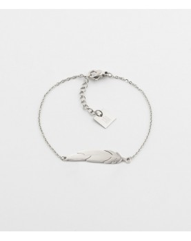 Bracelet Zag Feather acier