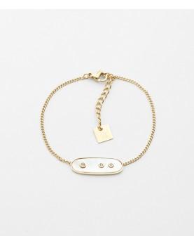 Bracelet Zag Euclide acier...