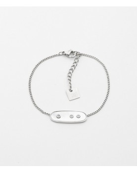 Bracelet Zag Euclide acier