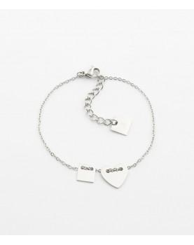Bracelet Zag Lucky Heart acier