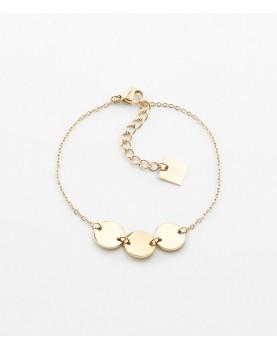 Bracelet Zag Cardin acier doré