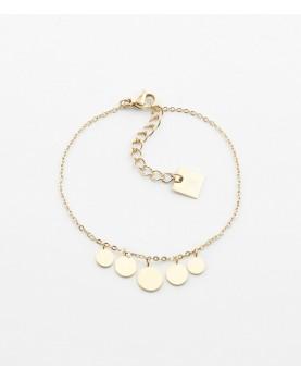 Bracelet Zag Pluton acier doré