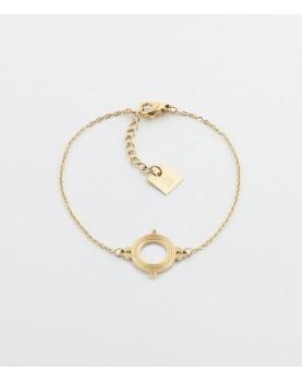Bracelet Zag Sifnos acier doré