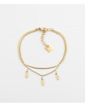 Bracelet Zag Symi acier doré