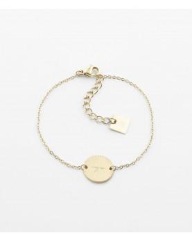 Bracelet Zag Helios acier doré