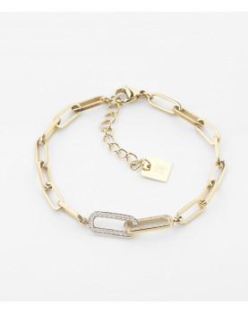 Bracelet Zag Bobby acier doré