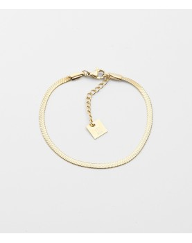 Bracelet Zag Pur acier doré