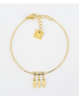 Bracelet Zag Navajo acier doré