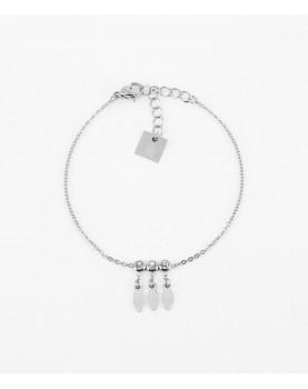 Bracelet Zag Navajo acier