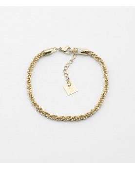 Bracelet Zag Rice acier doré