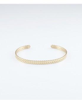 Bracelet Zag Buzios acier doré