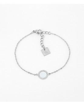 Bracelet Zag Linda acier nacre