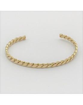Bracelet Zag Swan acier doré
