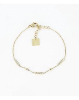 Bracelet Zag Allen acier doré