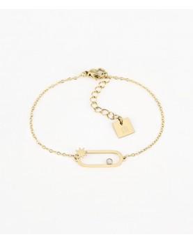 Bracelet Zag Atoll acier doré
