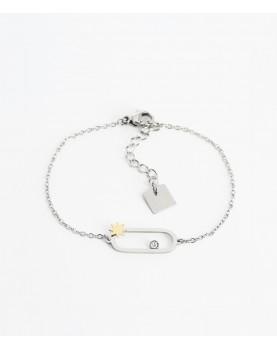 Bracelet Zag Atoll acier