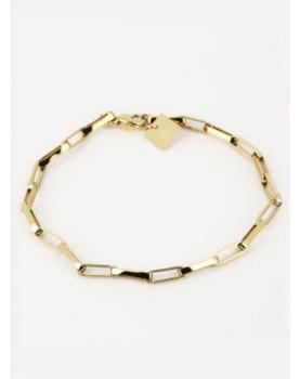 Bracelet Zag Lena acier doré