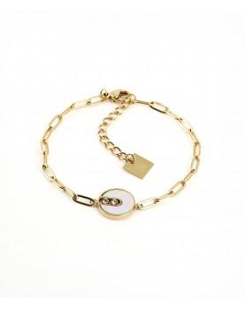 Bracelet Zag Kaya acier doré