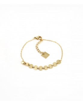 Bracelet Zag Proof acier doré