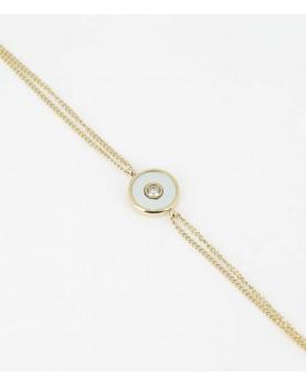 Bracelet Zag Aretha acier doré