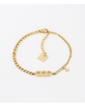Bracelet Zag Lassie acier doré