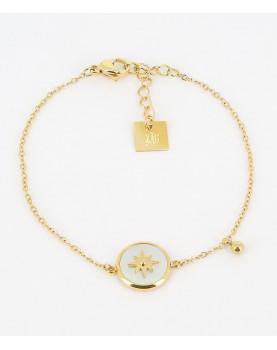 Bracelet ZAG Sun acier doré