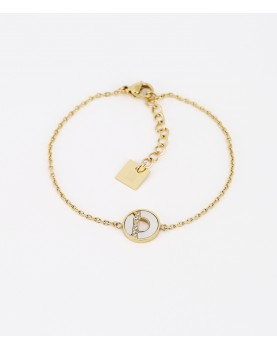 Bracelet Zag Yüna acier doré