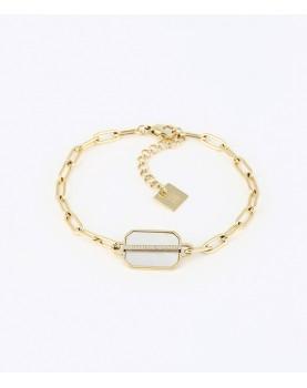 Bracelet ZAG Nikov acier doré