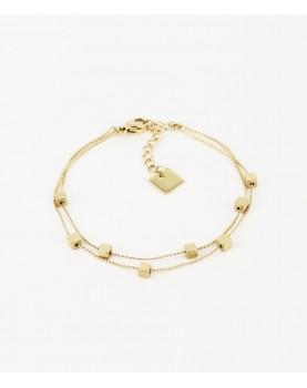 Bracelet Zag Golden Cube...
