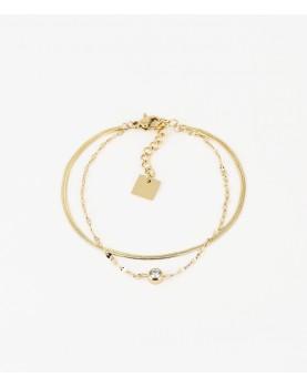 Bracelet Zag Sahiba acier doré